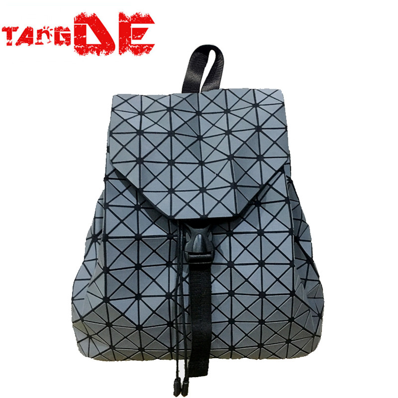 JAPANESE LASER GEOMETRY FOLDED PU LEATHER SOLID COLOR WOMEN 365 DAYS BACKPACK 34*13*32CM<br><br>Aliexpress
