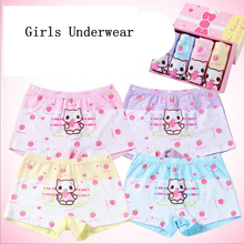 Buy New 4 Pcs/set Cotton Panties Girls Kids Short Briefs Teenage Casual Girl Underwear Children Cute Cartoon Shorts Underpants for $11.70 in AliExpress store