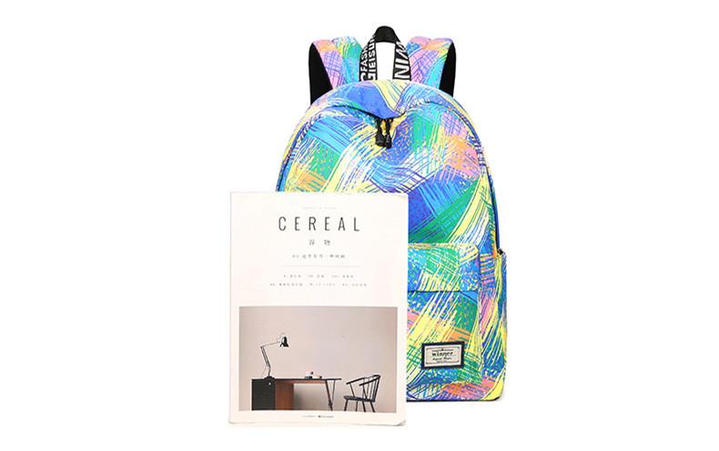 Fashion Women Waterproof Backpack School Bag Personality Printing