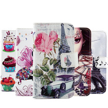 Painted Book Style Cartoon Stand Flip Cover Skin Pouch 1X For Lenovo p70 Optional 8-Patterns PU Leather Case Phone Case(China)