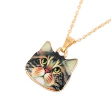 2016 Retro Hot Fashion Designed Cute Animal Jewelry Big Eyes Black Cat Necklaces for Women Friendship Handmade Necklace