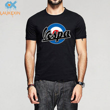 Fashion Print Men Women Vintage Vespa T Shirt Target Ideal Birthday Present or Gift 100% Cotton O Neck Shirts Brand Clothing Top
