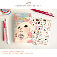 8 sheets/set New Very Cute Cats Designs Transparent Decoration PVC Sticker Diary Planner Phone Label Stationery(China)