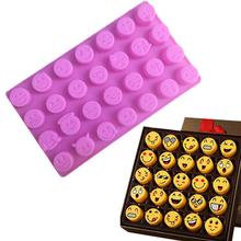 1PC  QQ expression silica gel ice mold silicone rubber mold silicone baking mold DIY mold Aromatherapy jelly