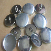 (900PCS/LOT) 36L Brushed Polished Aluminum Metal Buttons - Wire Back Cover Shank Buttons