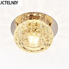 Corridor Mirror Ceiling Lamp Aisle Veranda Lighting Down Crystal Mordern Surface Mounted 3w LED Ceiling Lights For Living Room