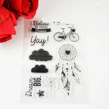 DECORA 1PCS bicycle Clear Transparent Stamp DIY Scrapbooking/Card Making/Christmas Decoration Supplies