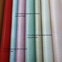 21x29cm Artificial Leather, Synthetic Leather, Faux Pu Leather Fabric with Pearlized Metallic Colors Embossed Litchi SK24(China)