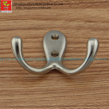 2 Pieces Top Quality Zinc Alloy Robe Hook Wall Mount Double Hat Hooks For Wall,coat Clothes Hat For Hanger(China)