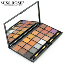 Miss Rose Brand Makeup 21 Color Warm Matte Pigment Nude Eyeshadow Palette Earth Color Shimmer Eye Shadow