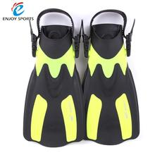 Adult Short Snorkeling Diving Swimming Fins Trek Snorkeling Foot Flipper Swimming Diving Flippers with Adjustable Heel