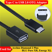 Type-C USB 3.1 to USB 2.0 OTG Adapter Type C Data Cable Connector For BLU Pure XR, Energy XL , for Archos Diamond 2 Plus Charge