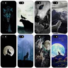 The Wolf Black Plastic Case Cover Shell for iPhone Apple 4 4s 5 5s SE 5c 6 6s 7 Plus(China)