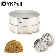 2 Layers Herb Spice Grinder Metal Plate Magnetic Pollinator 30mm Hand Hookah Pipe Tobacco Smoking Pipe Crusher Smoke Filter