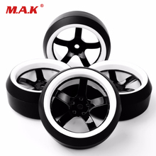 RC Drift Tires 1/10 Wheel Rim Fit HPI 1:10 On-Road Racing Car 3 Degree 12mm Hex Accessory(China)