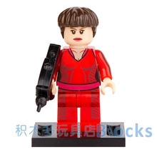 Single Sale Movie Star Trek Captain Mate Enterprise SUPER HEROES AVENGERS POGO minifig Model DIY Building Blocks Kids Toy Gift