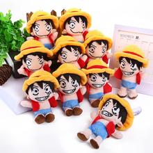 "Anime One Piece Monkey D Luffy Mini Plush Toy Doll with Ring Soft Stuffed Doll 10pcs/lot 5"" 12.5CM(China)"