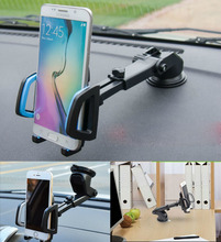 For  HTC One M7 M8 M9 M10 A9s E8 Desire Universal 4- 6 inch Retractable Windshield Dashboard Car Phone Stand Holder GPS Mount