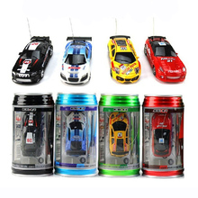 Original 4 Colors Coke Can Mini Speed RC Radio Remote Control Micro Racing Car Toy with Road Blocks RC toys for children 18650