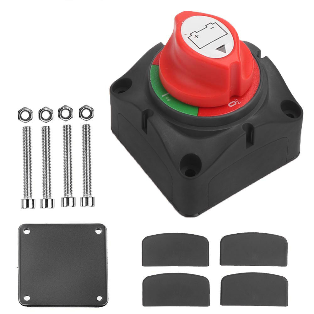 ONEVER Battery Isolator Cutoff Cut Off Power Kill Switch Waterproof Cover Universal 12V//24V for Marine Car Boat