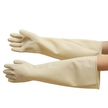 NEW A Pair Of Replacement Chemical Resistant Gloves 60cm/24Inch natural rubber Safety Glove Latex Cleaning Glove(China)