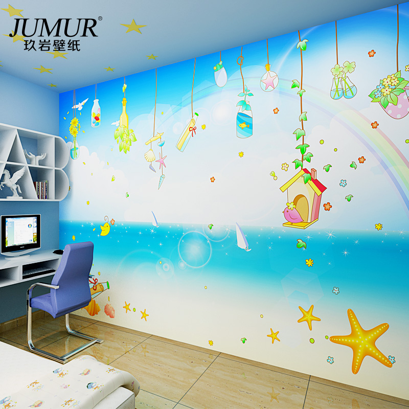 Mural Child real wallpaper child cartoon non-woven wallpaper seamless large mural<br><br>Aliexpress