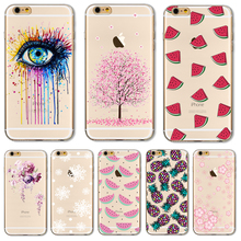 Soft TPU Case Cover For Apple iPhone 5 5S SE 6 6S 6Plus 6S+ 7 7+ Cases Phone Shell Super Popular Painted Magic Eyes Silicon