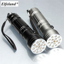 Elfeland 15 LED 3 in 1 Red Laser UV Flashlight 3 modes Camping Torch Light LED UV Flashlight by aaa battery