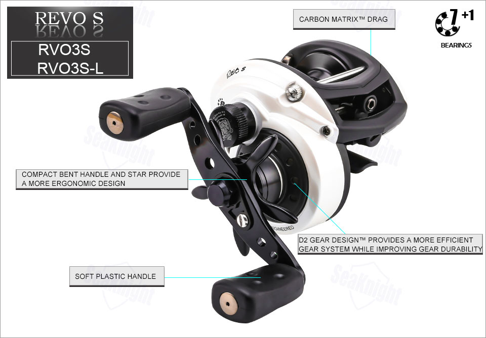 Details about  /Abu Garcia RV03 S Revo S Low-Profile Baitcast Reel