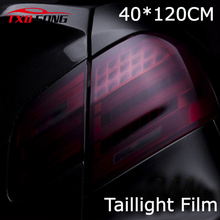 40cm x 120cm car styling Matte Black Headlight Film Tint Taillight Motorbike Headlight Rear Lamp smoked Tinting Film Matt smoke