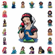 1pcs Lovely Princess PVC Anime Brooch Pins Badge Cartoon Icon Button Badges for Woman Kids gift Backpack Clothes Hat Decor(China)