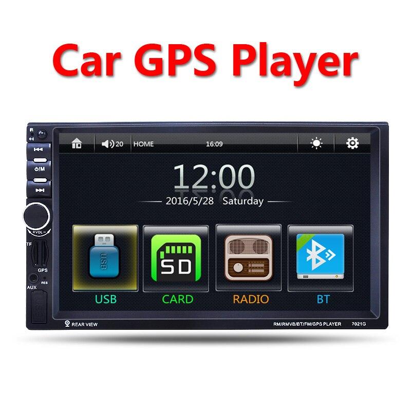 2 Din Car Multimedia Player GPS navigation 7 HD Bluetooth Stereo Radio FM MP3 MP5 Audio Video USB Auto Electronics autoradio<br><br>Aliexpress