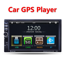 2 Din Car Multimedia Player GPS navigation 7'' HD Bluetooth Stereo Radio FM MP3 MP5 Audio Video USB Auto Electronics autoradio(China)