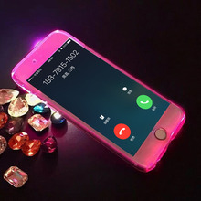 6 6s Led Flash Light Phone Cases For iphone 5 5s SE 6 6s Plus Armor Case Hard PC Clear 360 Full Body Protective Back Cover Funda