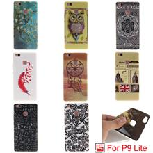 Cheap Pretty Ultra Thin TPU Silicone Soft Phone Mobile Cell Case kryty shell Cover For Huawei Huwei P9  Lite Sex Girl Flower