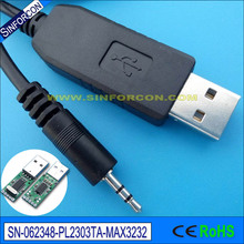 win8 10 pl2303ta usb rs232 adapter cable with 2.5mm audio jack