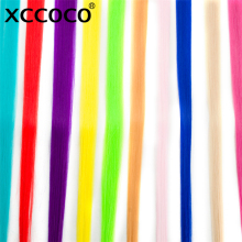 XCCOCO 50CM Long Straight 20 inch width 1 Clip 1 Piece Clip In Hair Extensions Synthetic Fake Hair(China)