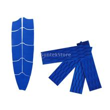 9Pcs Blue Diamond Grooved Non-slip EVA Surfboard Skimboard Bodyboard Full Deck Traction Pads + 4Pcs Tail Pads Grip Mat