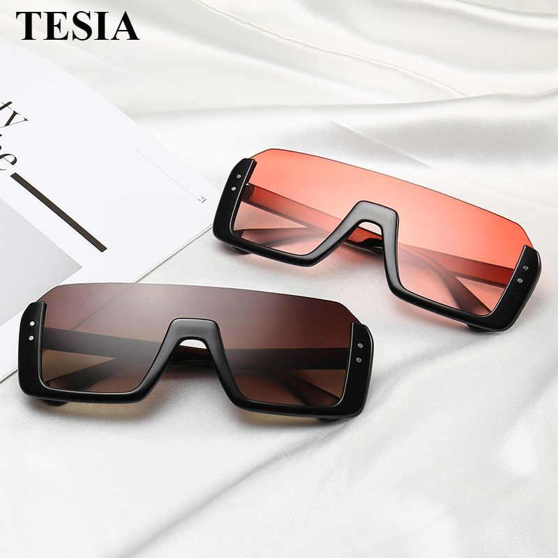 2019 nueva moda Semi montura gafas de Sol hombres mujeres Retro marco medio de  gafas de 955d68836d52