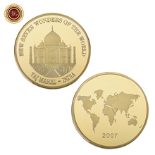 WR Home Decor Taj Mahal 24k Gold Plated Commemorative Coin Father's Day Gifts India 2004 Golden Metal Coin for Business Gifts(China)