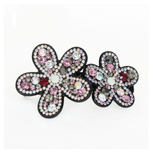 Retail Hair Jewelry Acetate Cellulose flowers Rhinstone Hair Clip Supplier for Women's Hair Accessories gifts Free Shipping