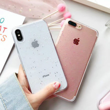 Buy Fashion Transparent Bling Glitter Stars Cover Phone Case iPhone 6 6S 7 8 Plus X Solf Silicone Phone Cases Back Funda for $1.38 in AliExpress store