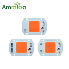 AmmToo 220V 110V 20W 30W 50W driverless cob led full spectrum led light grow chip hydroponic Plant Flower Seeding DIY grow light