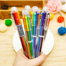 2017 Creative Novelty Multicolor Ballpoint Pen Multifunction 6 Colors Stationery School Supplies(China)