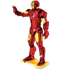 Colorful Iron Man Fun 3d Metal Diy Miniature Model Kits Puzzle Toys Children Educational Boy Splicing Hobby Building Science