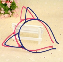 4 Colors Sexy Cat's Ears Hair Hoop Hairbands Stylish Headband Cat ears Hair Band Accessories Headwear For Girls Women(China)