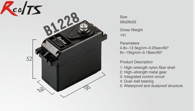 RealTS One piece Batan B1228 15kg dual ball bearing waterproof servo for rc car rc boat rc airplane<br>