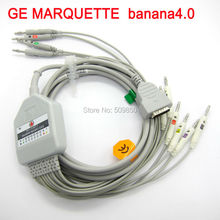 GE MARQUETTE EKG cable 10 lead ecg cable banana 4.0 on terminal