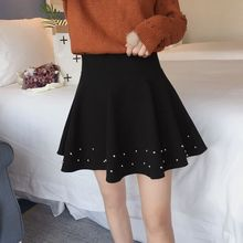 Buy Sexy School Girls Short Skirts Womens Black A-line Party Cocktail Mini Skirt Ladies High Waist Pleated Skater Skirt Saia Midi for $20.68 in AliExpress store