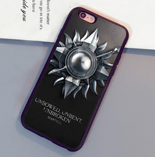 Game of throne House Martell Printed Mobile Phone Cases For iPhone 6 6S Plus 7 7 Plus 5 5S 5C SE 4S Soft Rubber Skin Back Cover